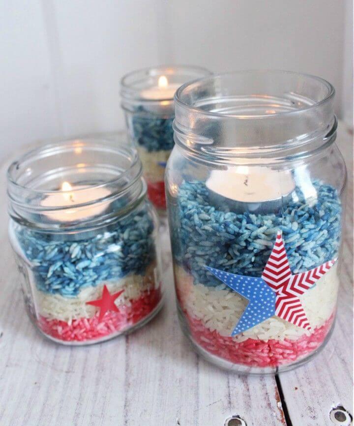 Make th of July Mason Jar Craft