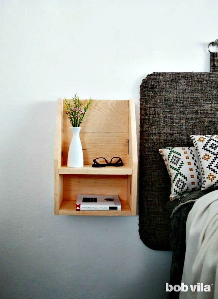 Make A Floating Nightstand