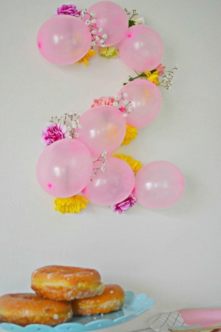 Make Balloon Flower Numbers