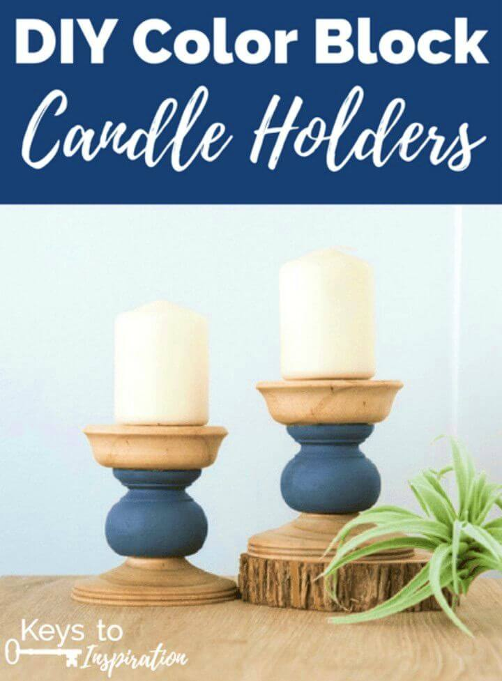 Make Color Block Candle Holders, DIY, easy DIY, quick DIY, cheap DIY projects, DIY color blocks, color blocks, DIY color block candle, DIY holders, color block technique, DIY home decor, gift ideas, candle holders, stylish decor.