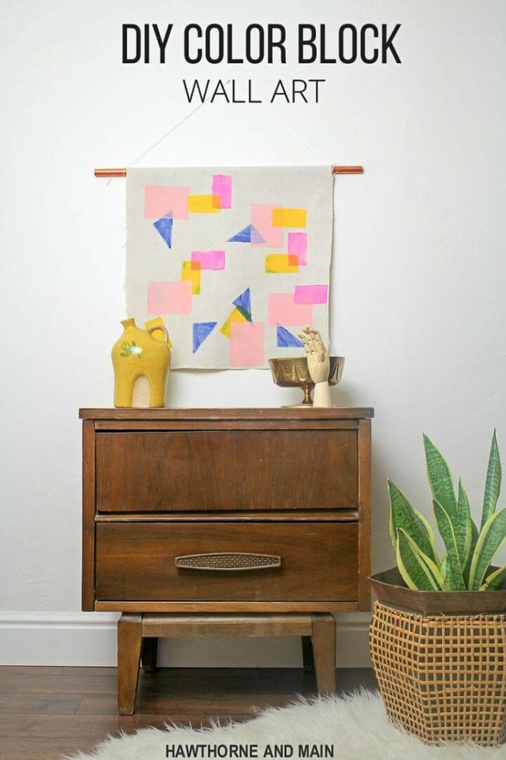 Make Color Block Wall Art, DIY, easy DIY, cheap DIY, amazing DIY, DIY color block wall art, DIY wall art, wall art, colorful wall art, DIY home decor, DIY office decor, art, artist.