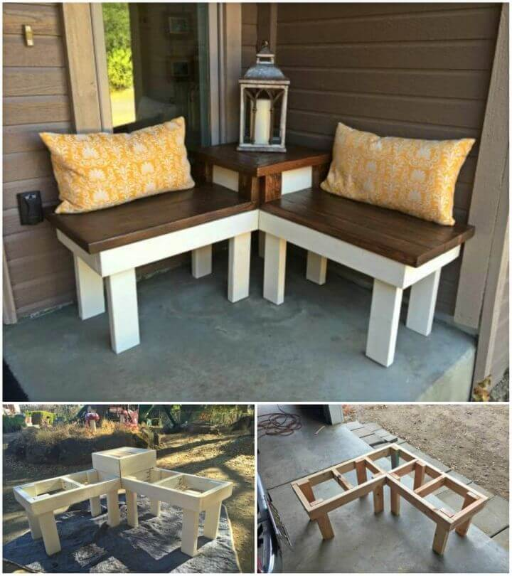 Make Corner Bench With Built in Table