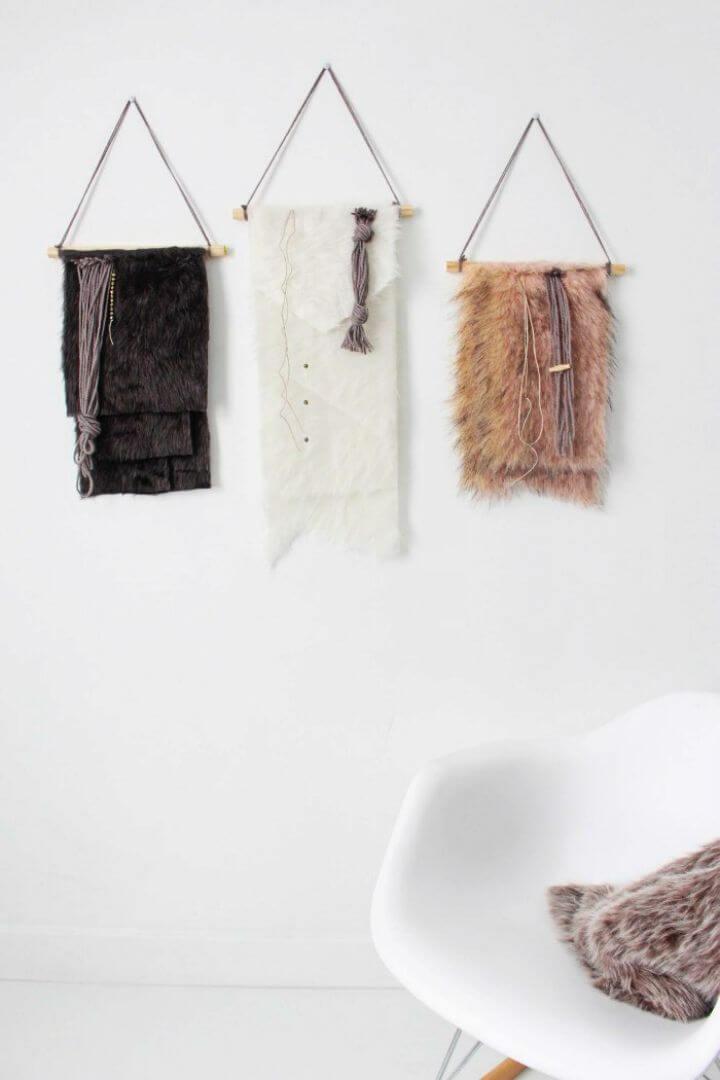 Make Faux Fur Wall Hangings