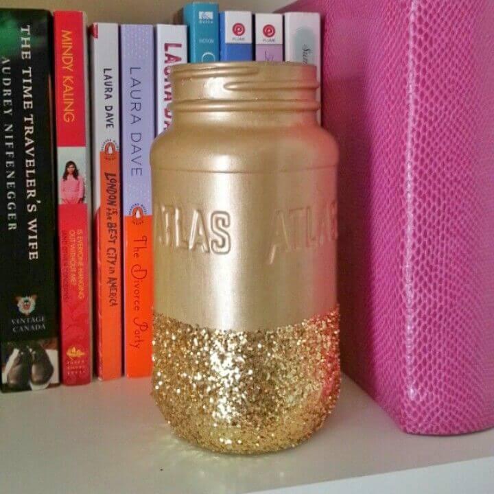 Make Glitter Mason Jars