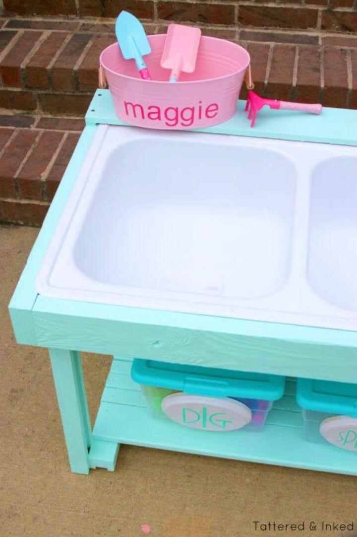 Make Kids Sand and Water Table From an Old Sink
