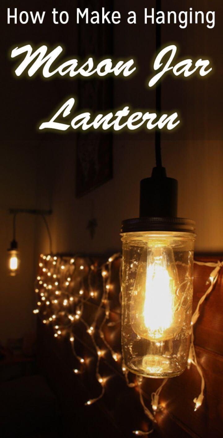 Make Mason Jar Hanging Light Fixture