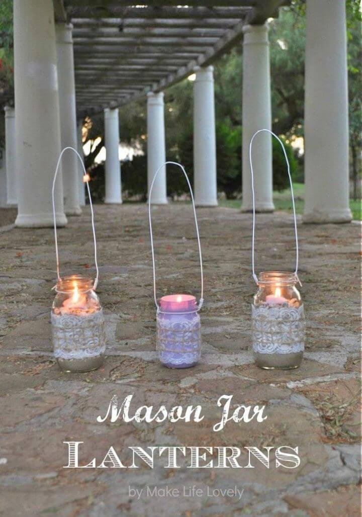 Make Mason Jar Lanterns