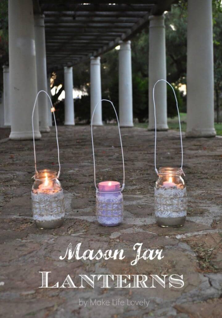 Make Mason Jar Lanterns Free Tutorial