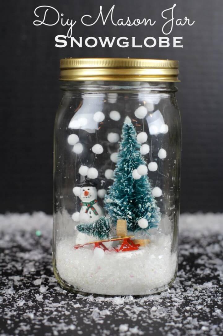 Make Mason Jar Snowglobe