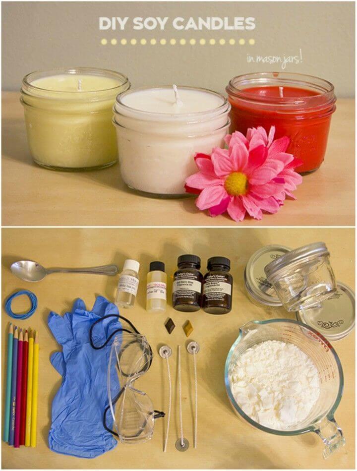Make Mason Jar Soy Wax Candles