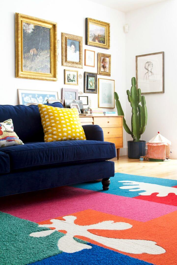 Make Matisse inspired Cut Out Rug
