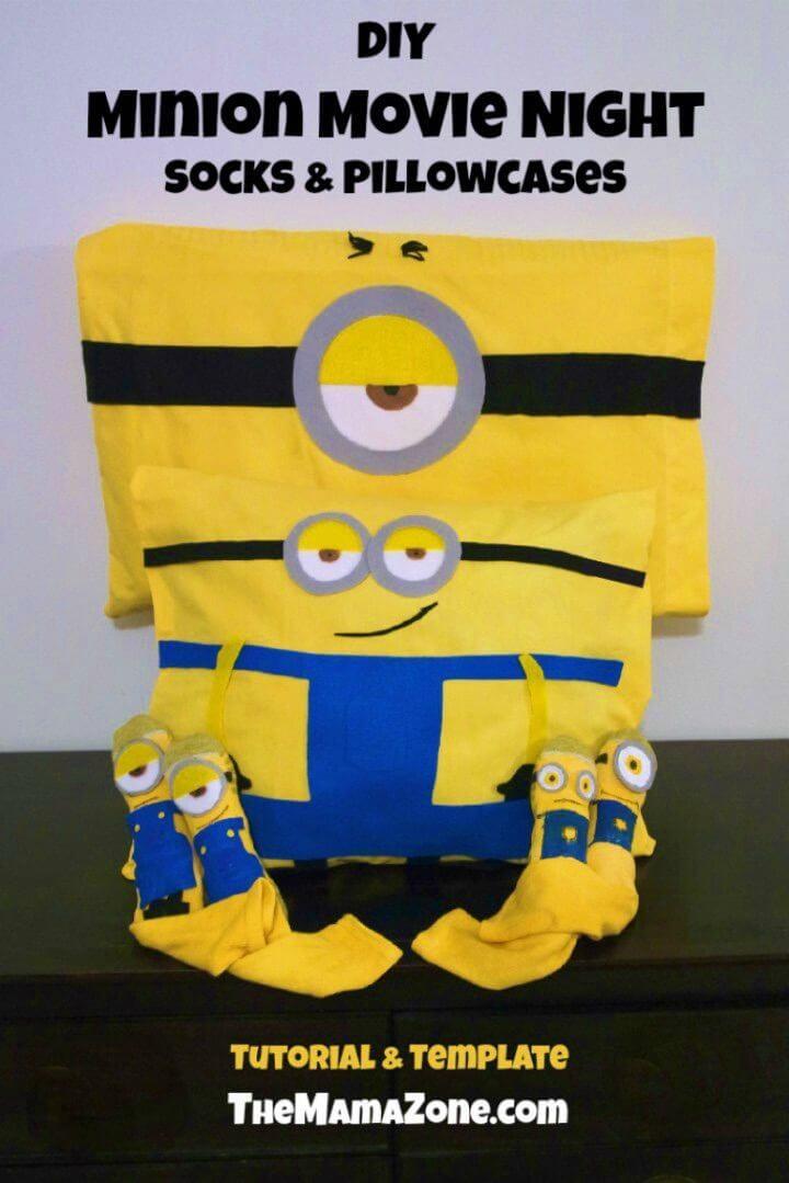 Make Minions Movie Night Socks and Pillowcases