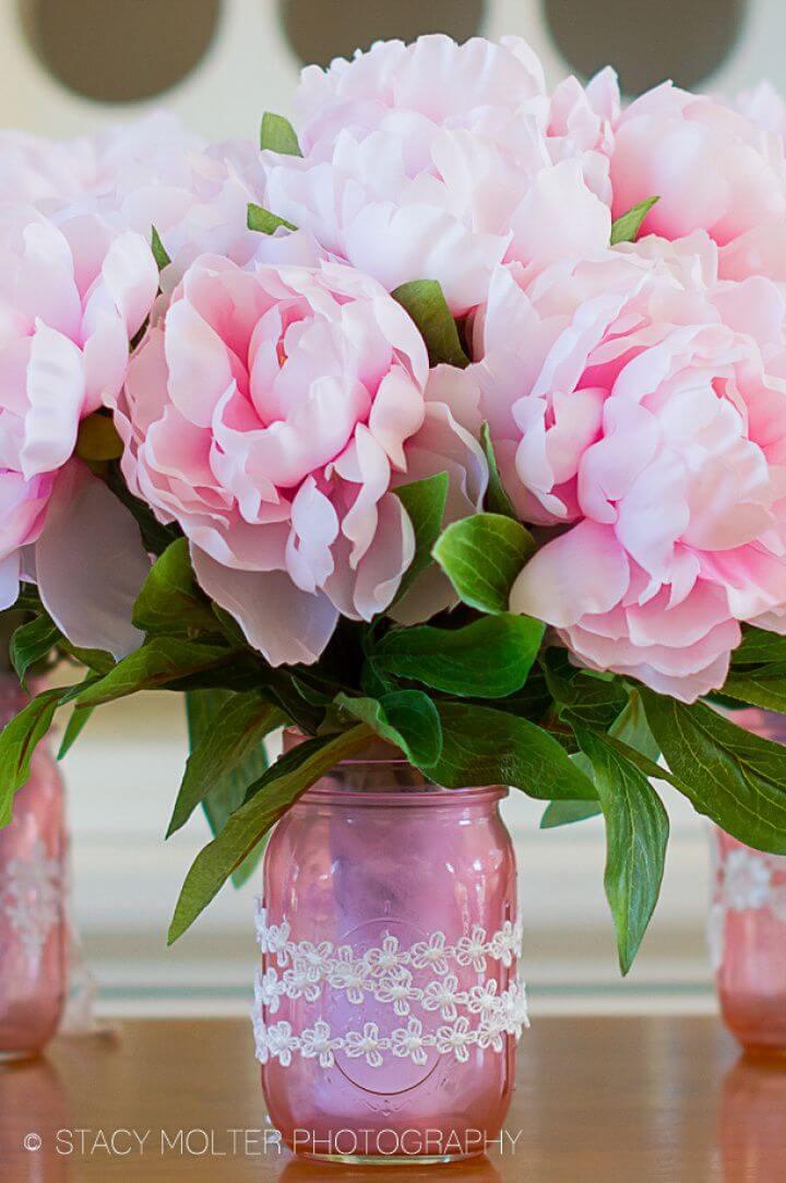 Make Mother's Day Mason Jar Flower Bouquets