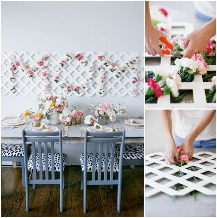 Make Mother's Day Tablescape with Mom Floral Backdrop