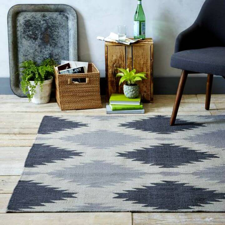 Make Painted Rug Inspired by West Elm