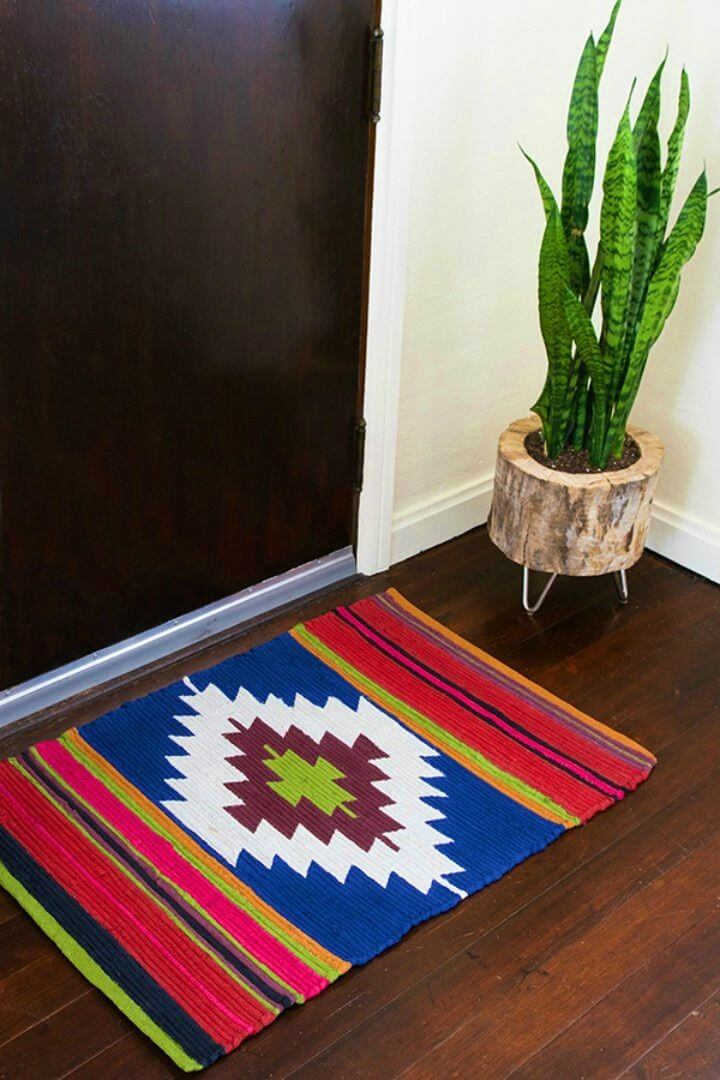 Make Painted Rug with a Colorful Kilim Style