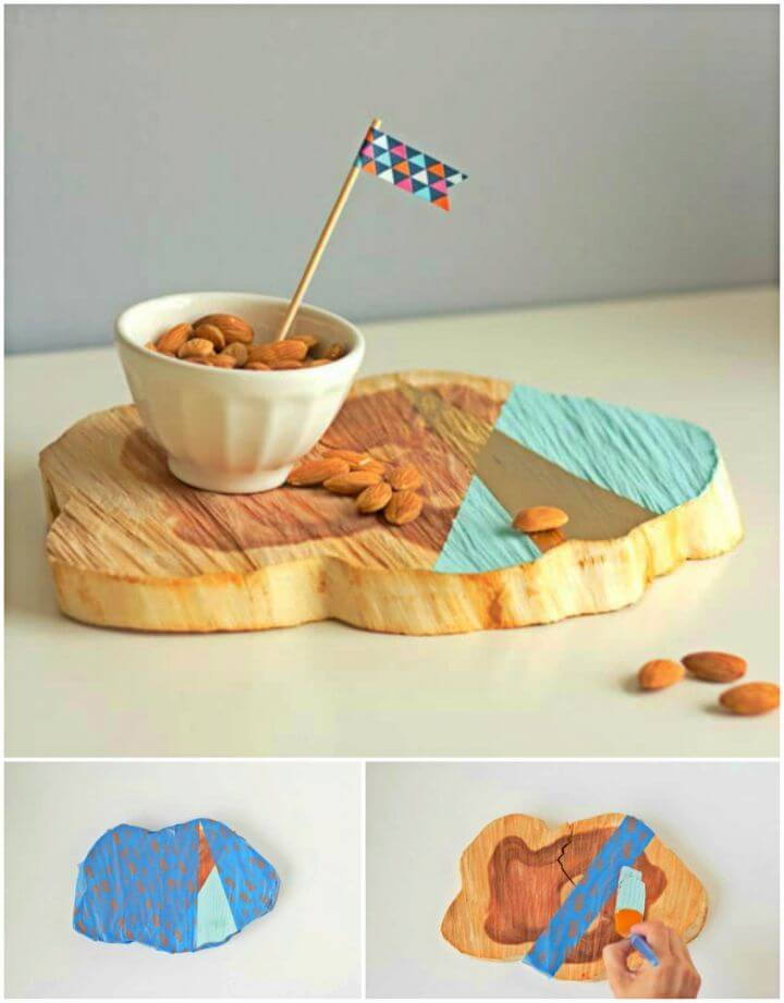 Make Painted Woodcut Platter