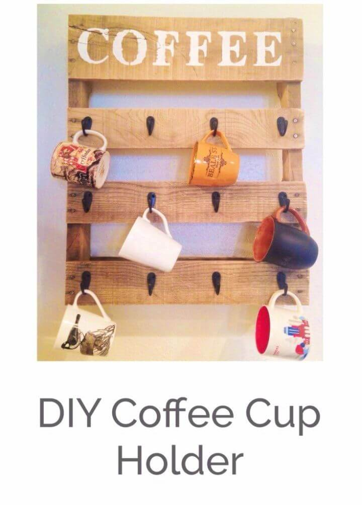 Make Pallet Coffee Cup Holder