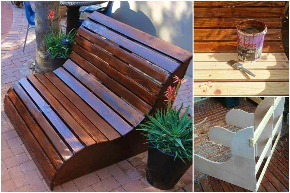Make Pine Garden Love Seat