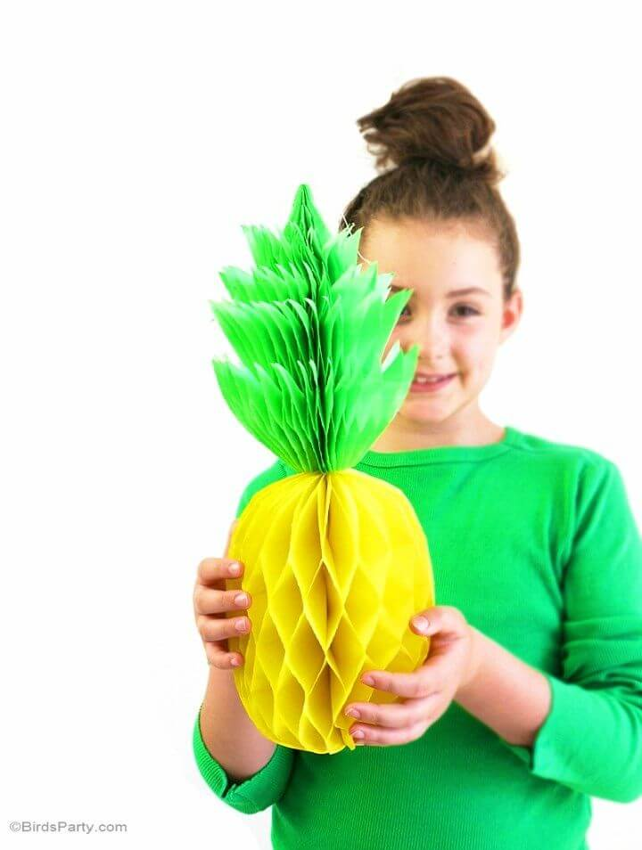 Make Pineapple Honeycomb Party Decorations