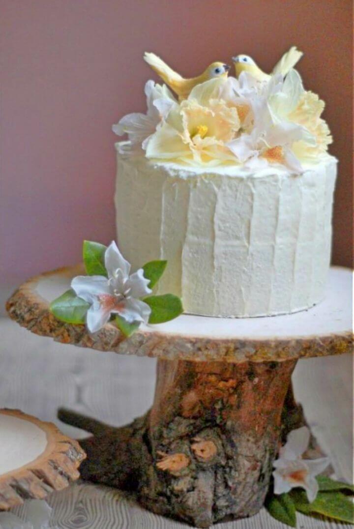 Make Rustic Wedding Cake Stand