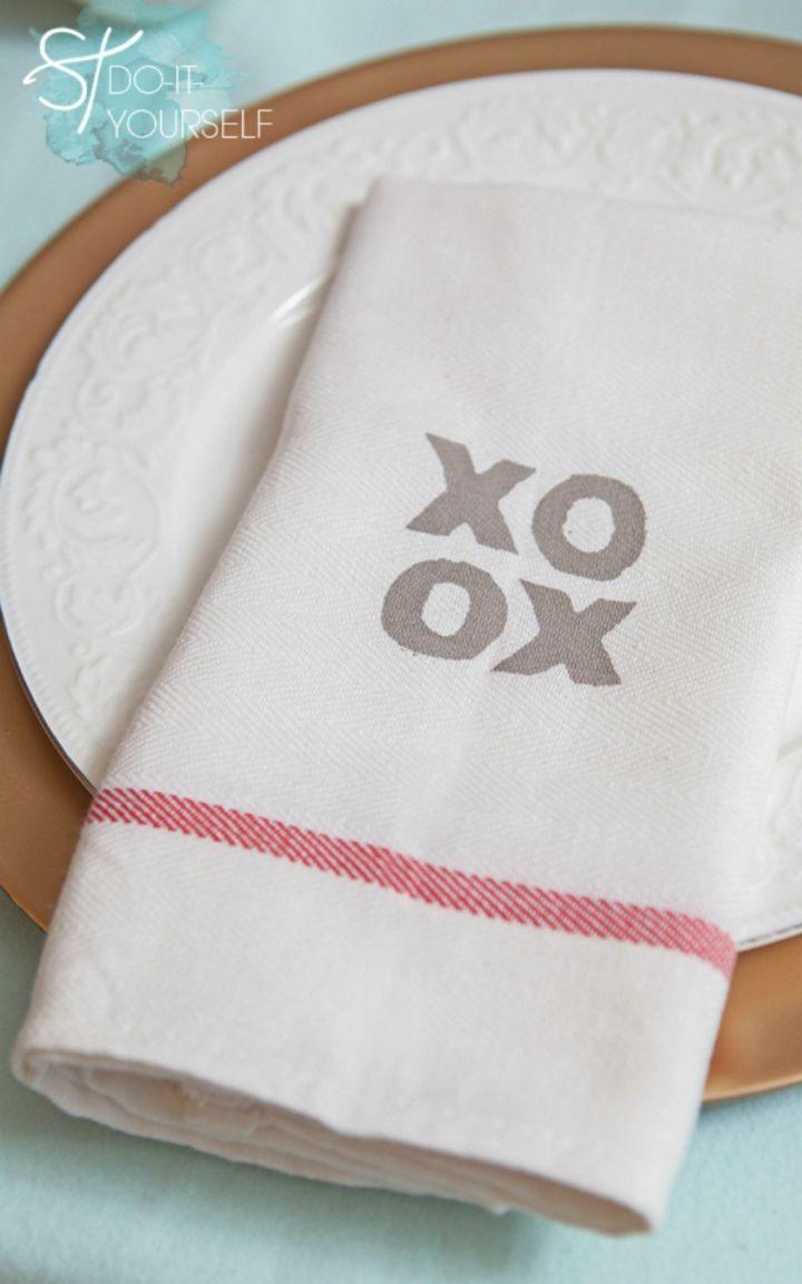 Make Silk Screen Tea Towel Favor