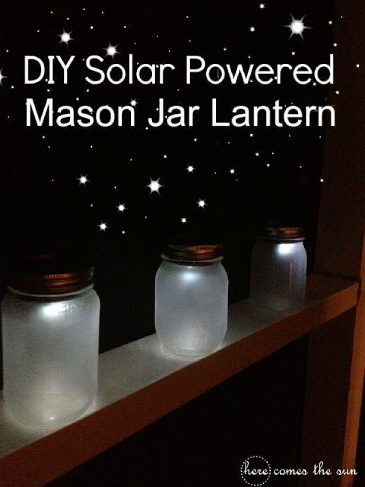 Make Solar Powered Mason Jar Lantern