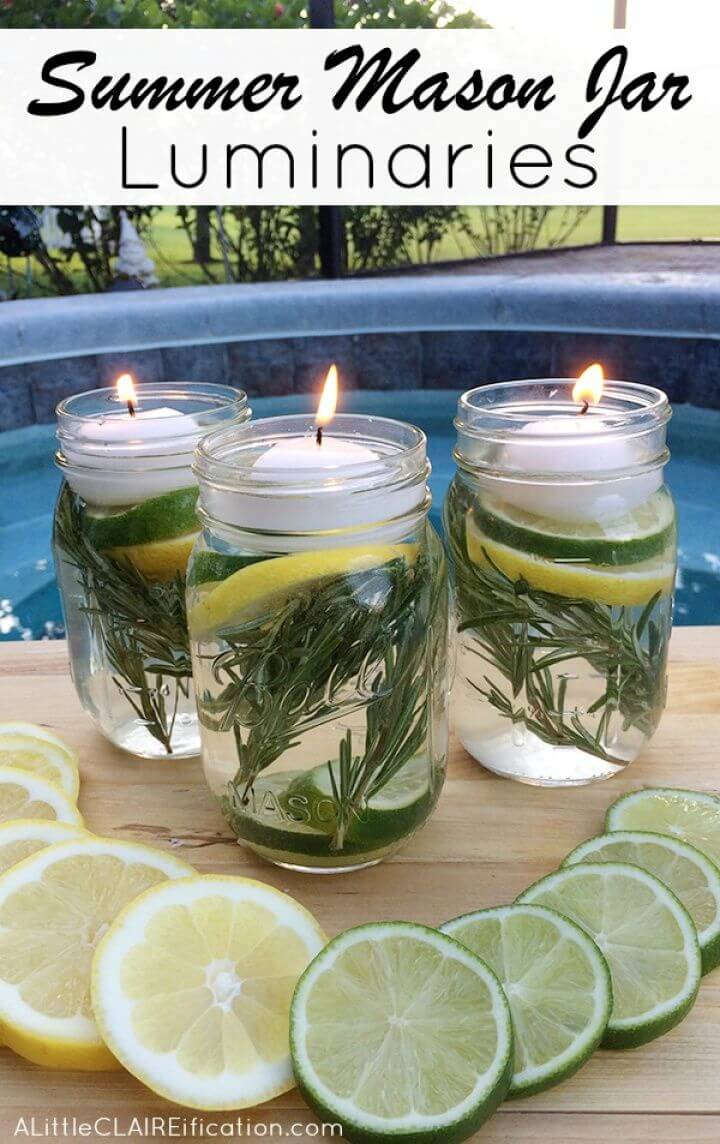 Make Summer Mason Jar Luminaries Under Hour