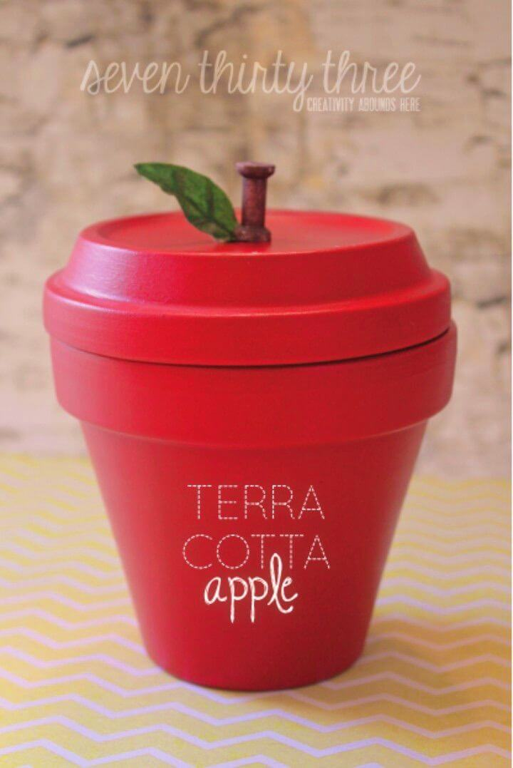 Make Terra Cotta Apple Back To School