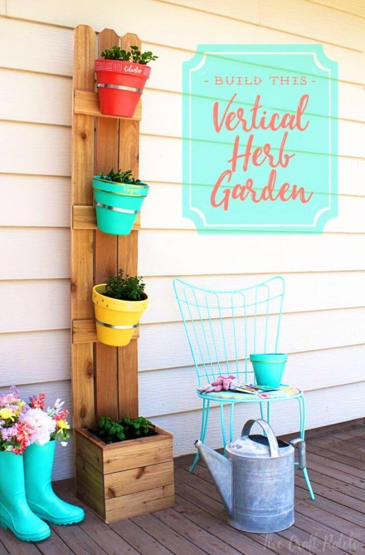 Make Terra Cotta Pots Vertical Planter