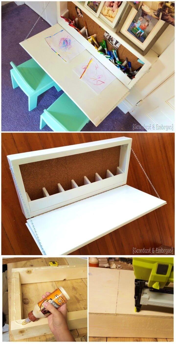 Make Wall mounted Secretary Desk For Kids