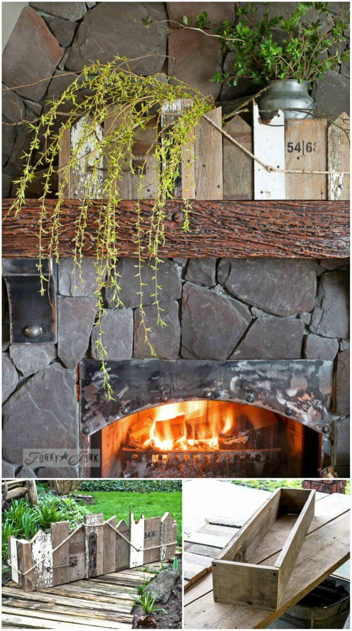 Make Window Box for Mantel Out of Reclaimed Scrap Wood