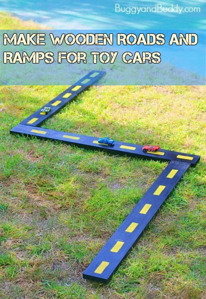 Make Wooden Roads and Ramps for Toy Cars
