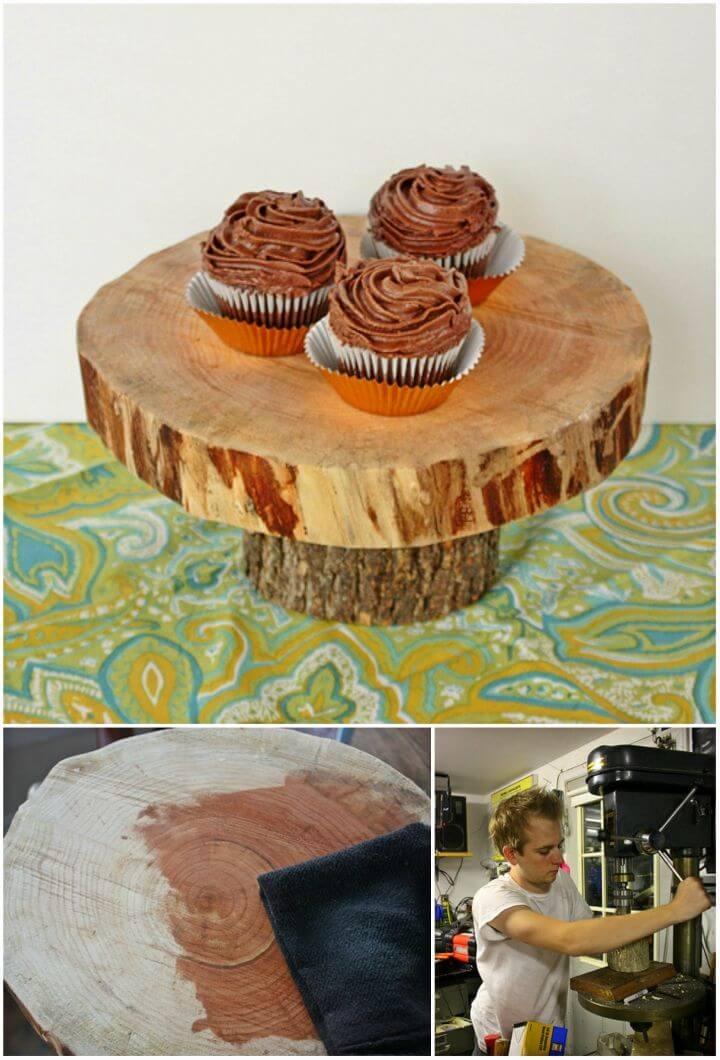 Make Wooden Wedding Cake Stand