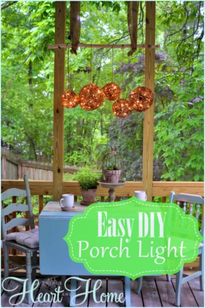 Make Your Own Backyard Chandelier