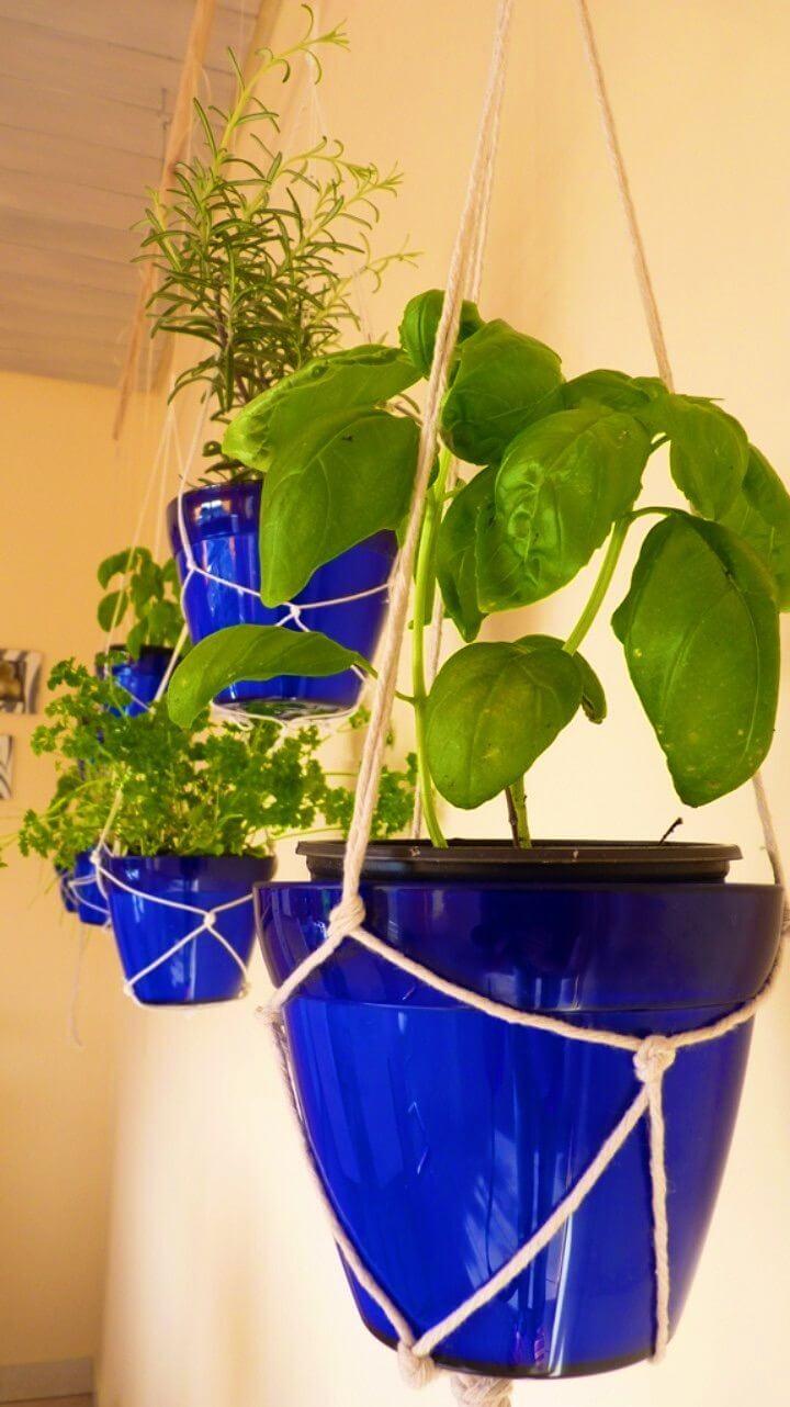 Make Your Own Indoor Hanging Herb Garden