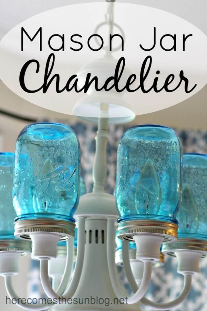 Make Your Own Mason Jar Chandelier