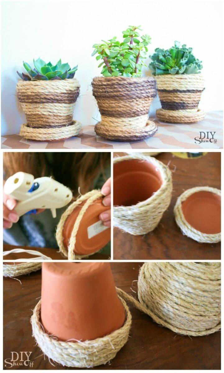 Make Your Own Sisal Rope Planters