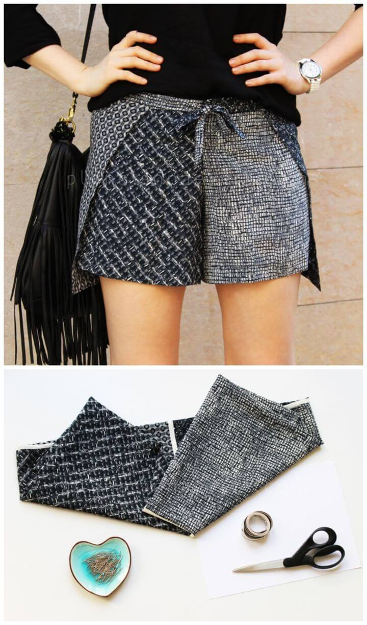 Make Your Own Wrap Scarf Short