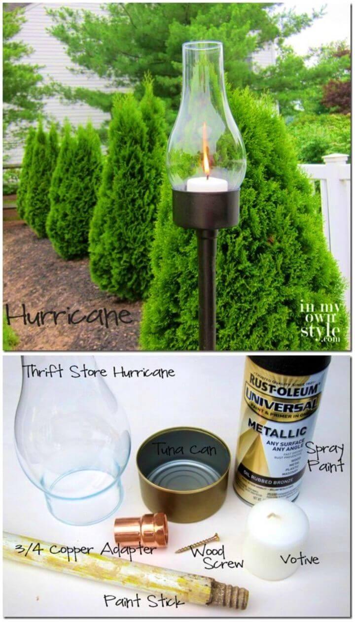 Make a Backyard Tuna Can Lantern