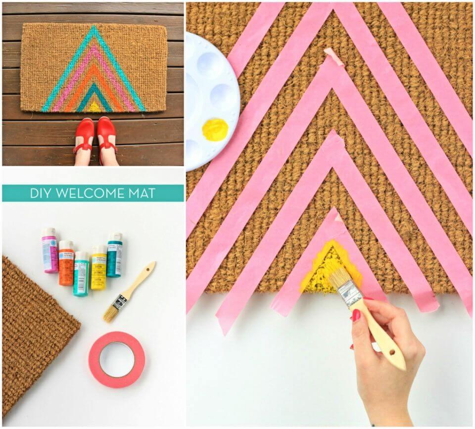 Make a Colorful Geometric Welcome Mat