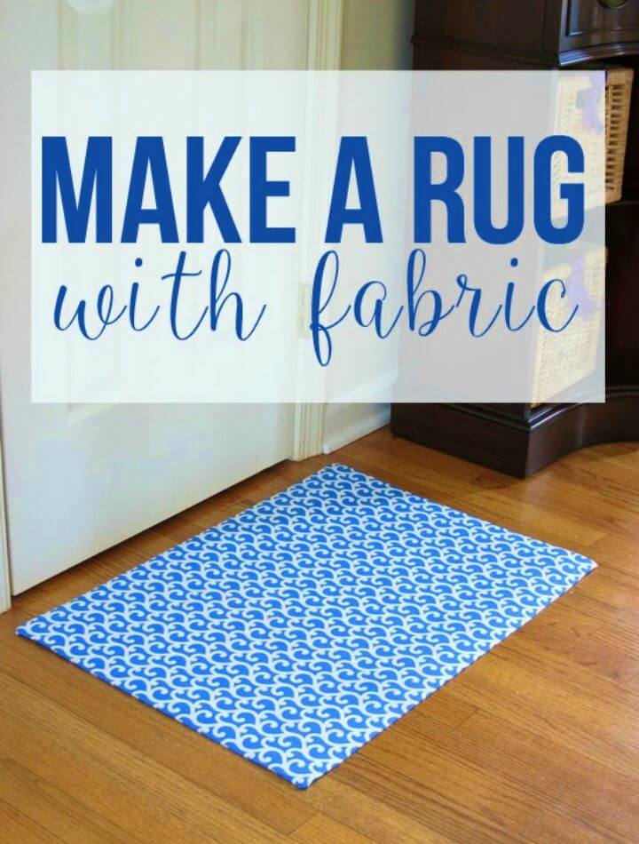 Make a Custom Rug Out of Fabric