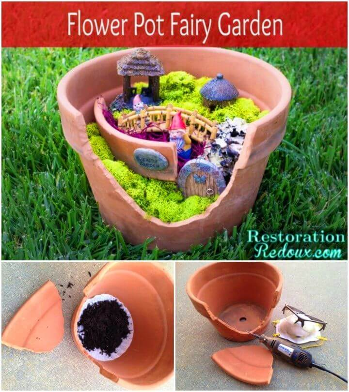 Make a Flower Pot Fairy Garden