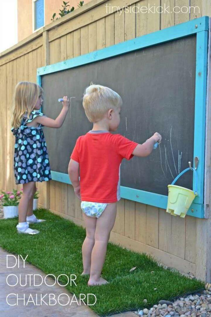 Make a Giant Outdoor Chalkboard