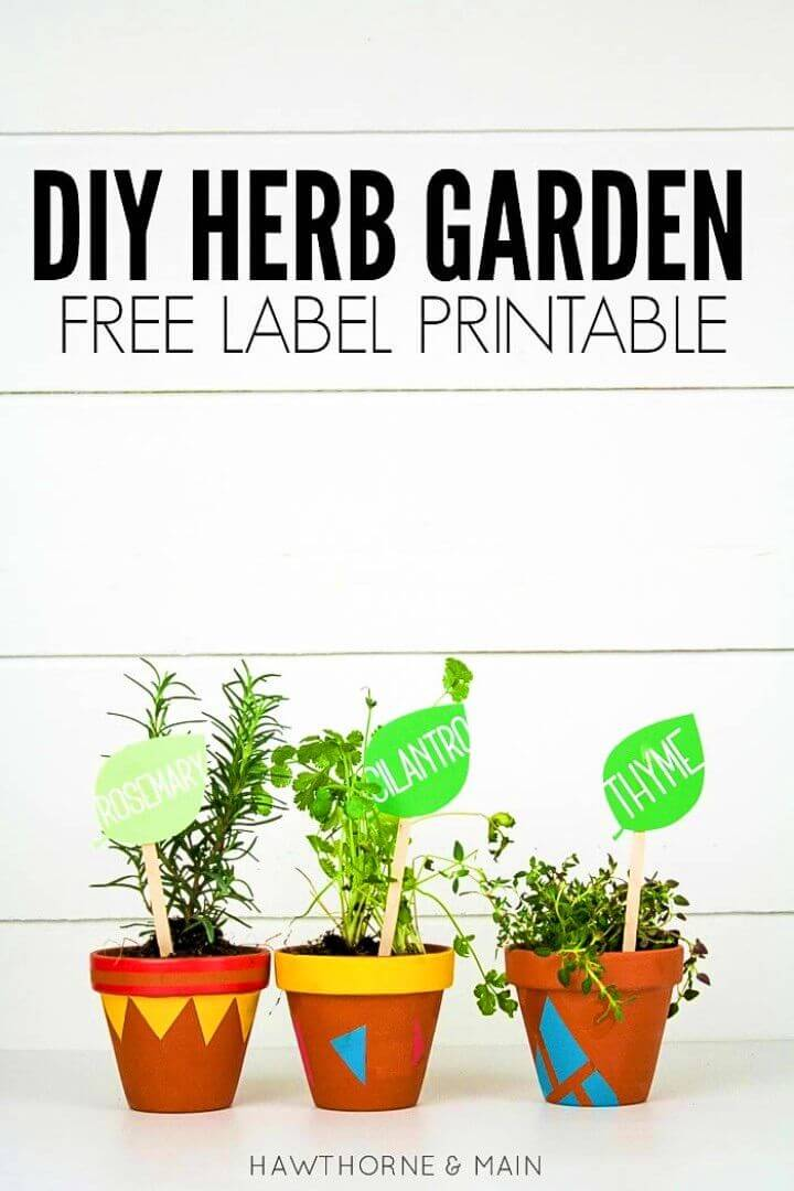 Make a Herb Garden With Free Label Printable