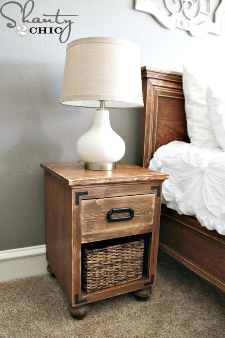 Make a Nightstand with Bun Feet