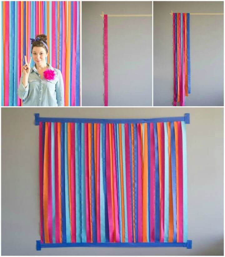 Make a Photo Backdrop Out of Streamers