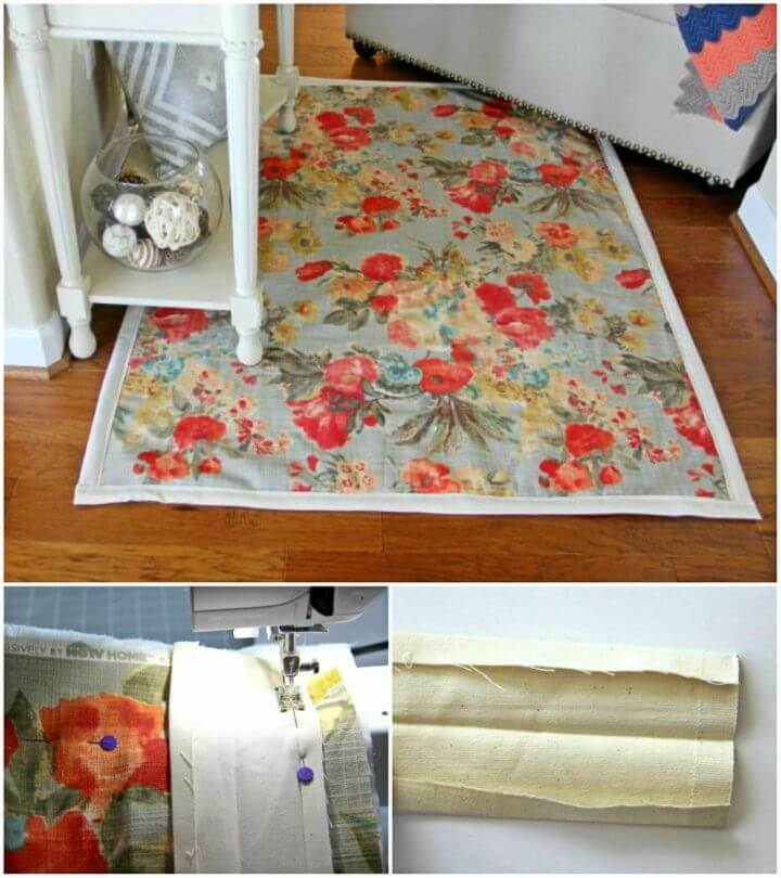Make a Rug from Upholstery Fabric
