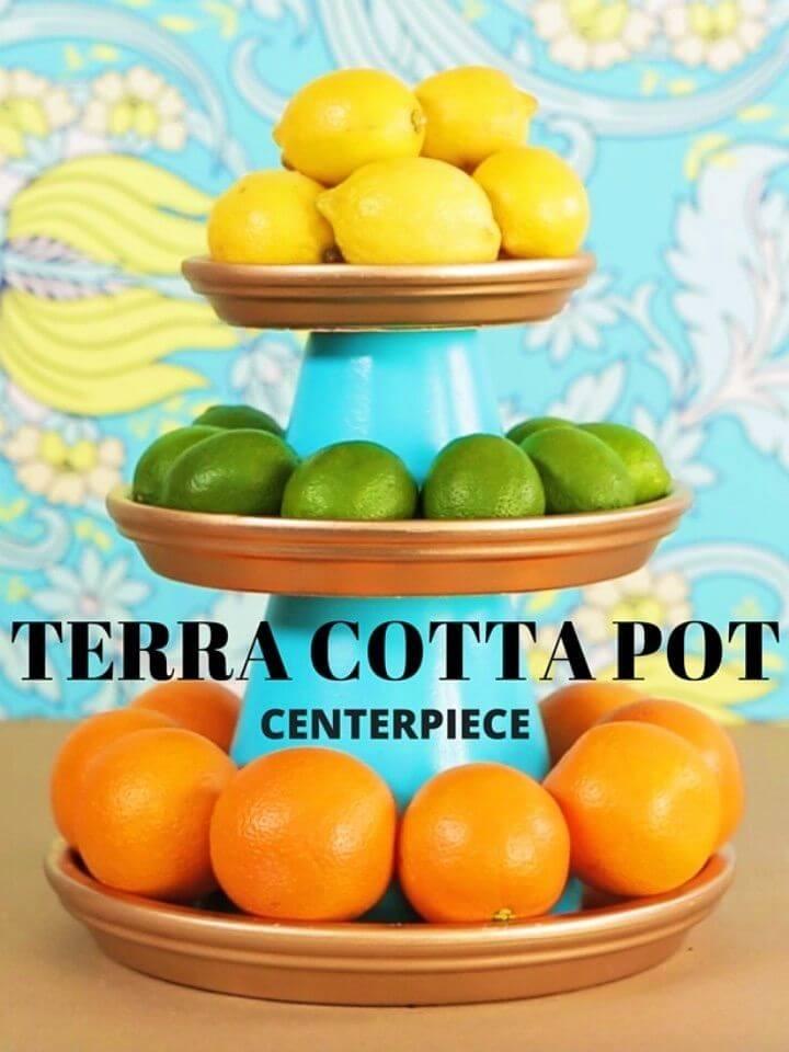 Make a Terra Cotta Pot Centerpiece