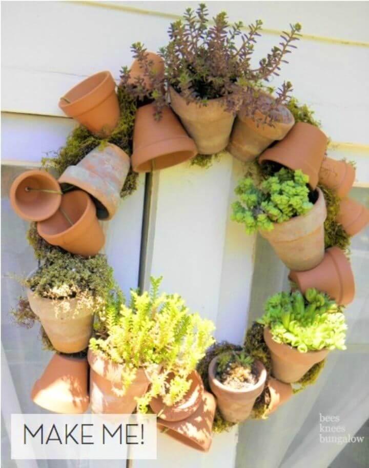 Make a Terra Cotta Pot Wreath